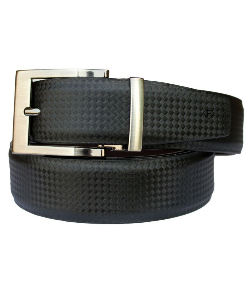 Fashius Black PU Formal Belts