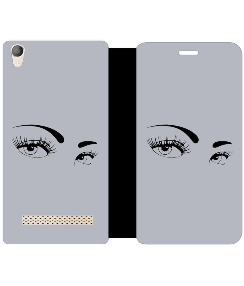 Micromax Canvas Fire 6 Q428 Flip Cover by Skintice - Grey