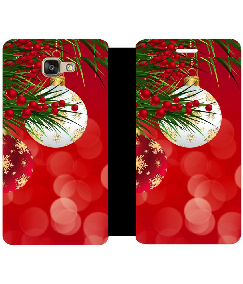 Samsung Galaxy A5 2016 Flip Cover by Skintice - Red