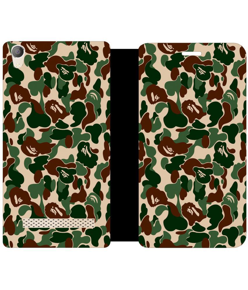 Micromax Canvas Fire 6 Q428 Flip Cover by Skintice - Multi