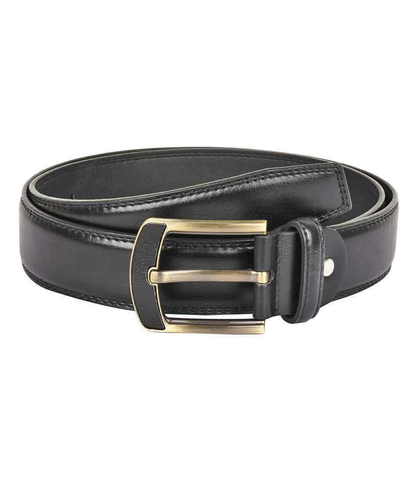 Buckle Up Black Faux Leather Formal Belts