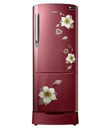 Samsung 192 Ltr 3 Star RR20M182ZR2/HL Single Door Refrigerator - Star Flower Red