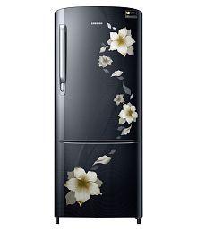 Samsung 230 Ltr 4 Star RR24M274YB2/NL Single Door Refrigerator - Star Flower Black
