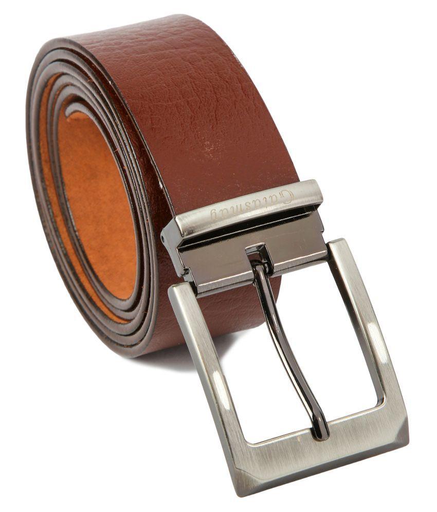 Gatasmay Brown Leather Formal Belts