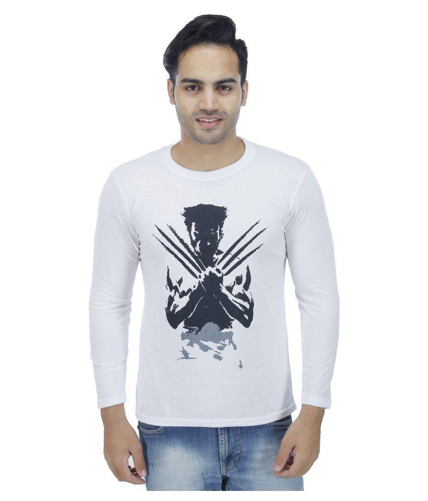 4 Aces White Round T-Shirt