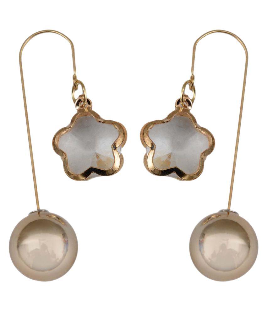 Taj Pearl Designer Hanging Earrings