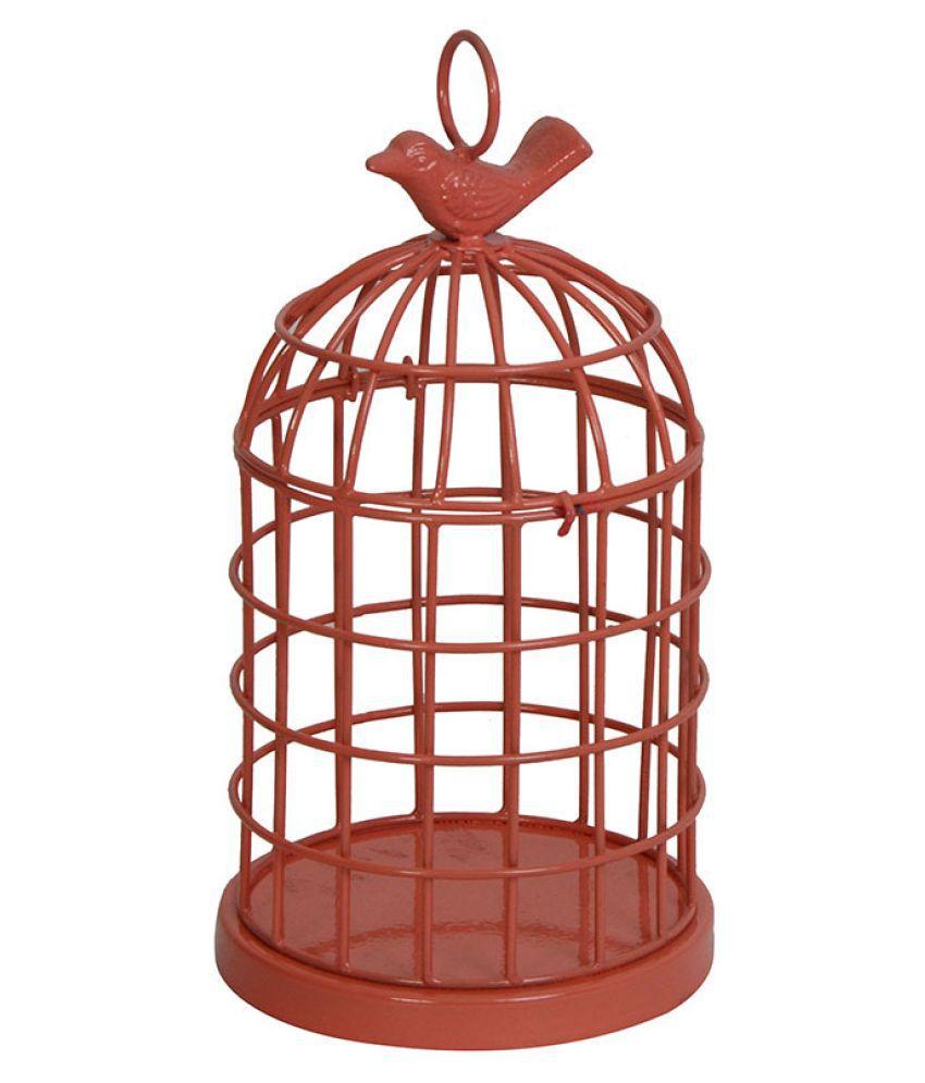 Deziworkz Indoor/Outdoor Decor Red Cage Medium