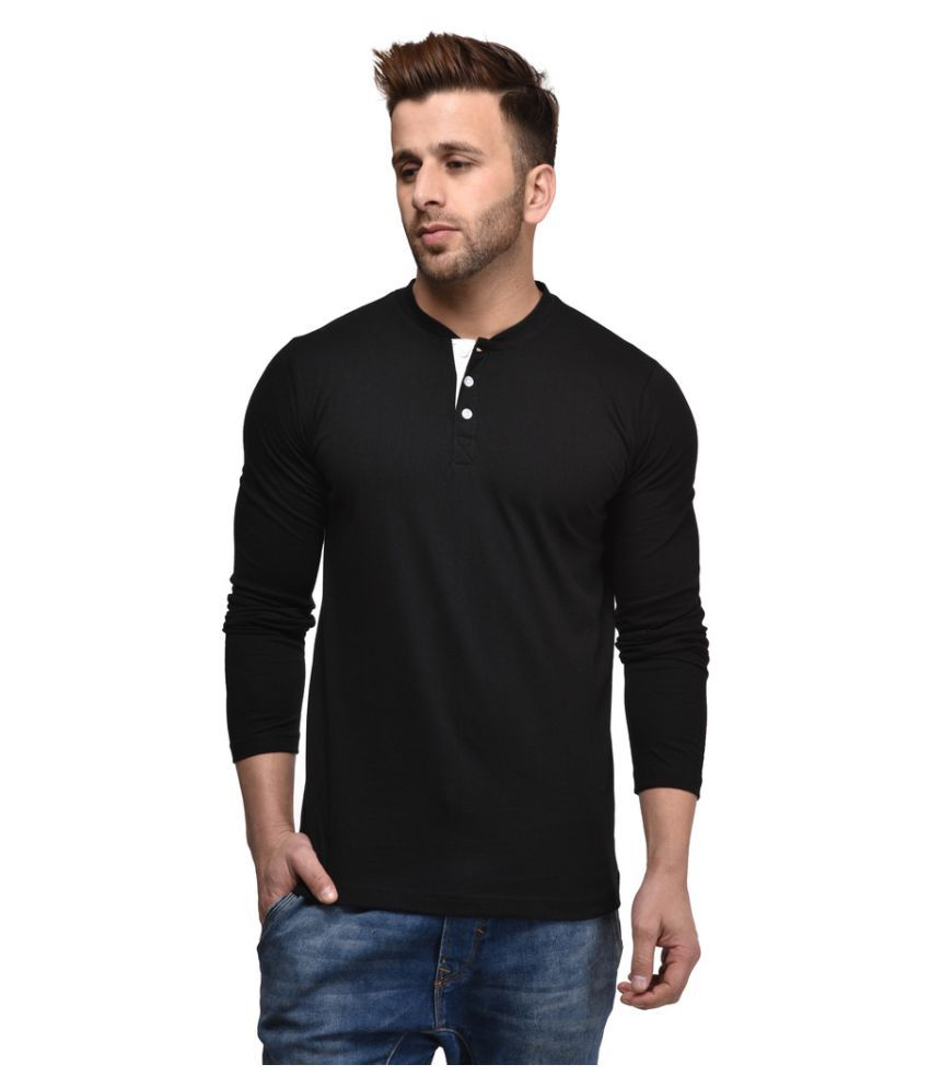 Kay Dee Creations Black Henley T-Shirt