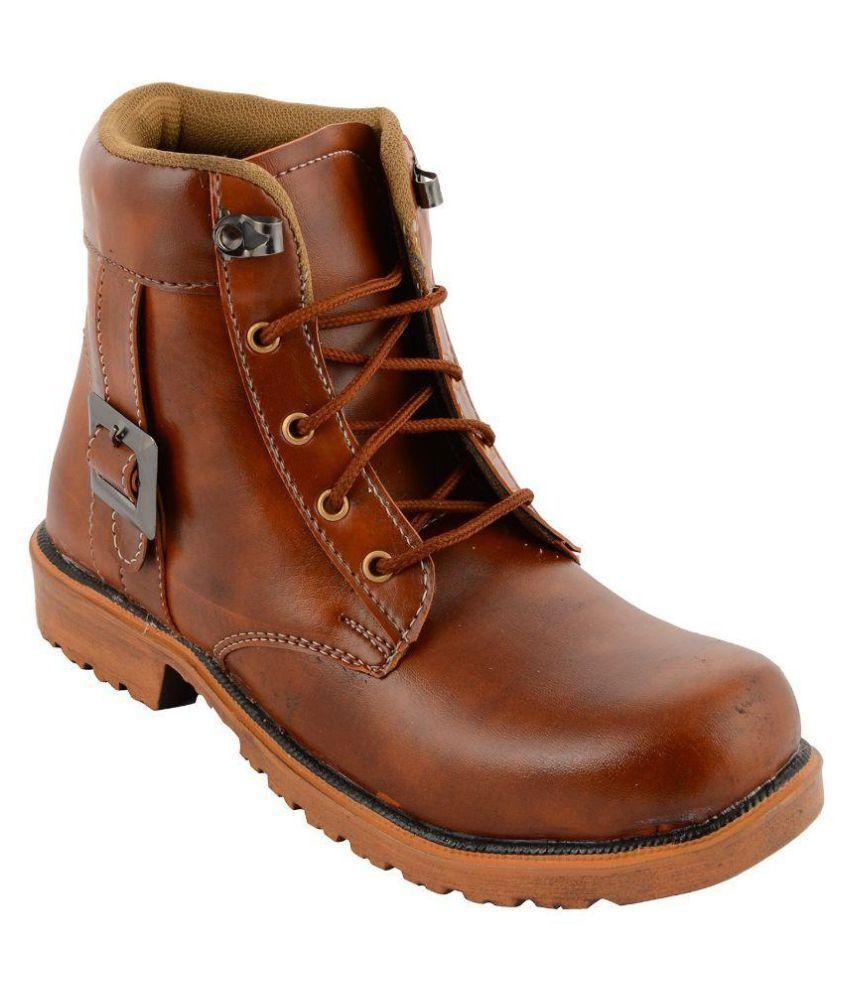 Shoe Sense Tan Party Boot