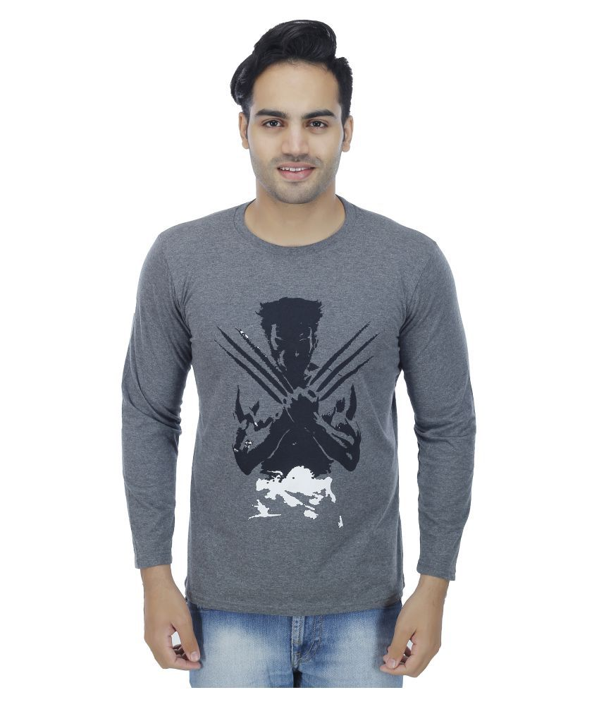 4 Aces Grey Round T-Shirt