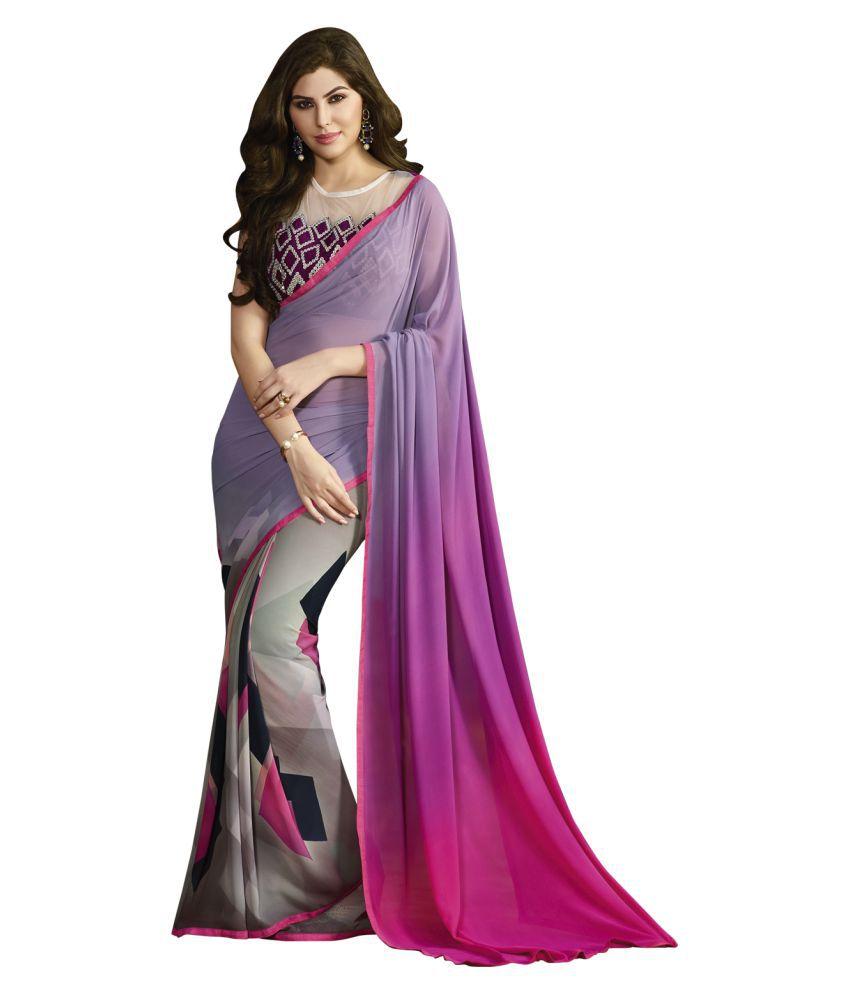Fashion Now Multicoloured Georgette Saree
