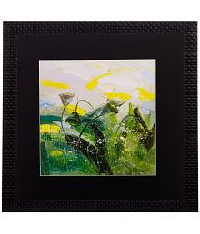 ECraftIndia Abstract Design Wood Painting With Frame Single Piece