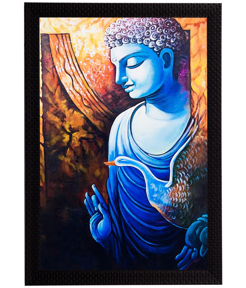 eCraftIndia Framed Satin Matt Wood Painting With Frame Single Piece