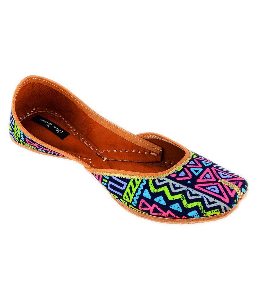 Alex Brown Multi Color Flat Ethnic Footwear