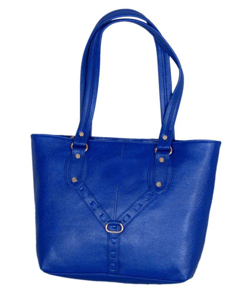 Mehar Creations Blue Rexin Shoulder Bag