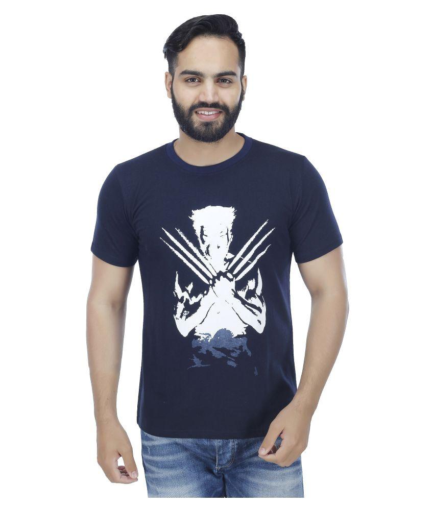 Nagru Navy Round T-Shirt