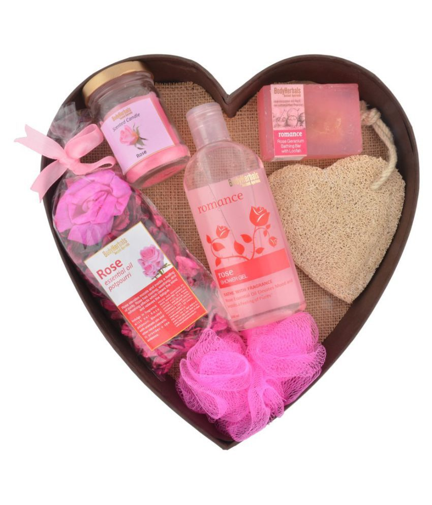 BodyHerbals Rose Surprise Bathing Set Antibacterial Bath Kit Pack of 6