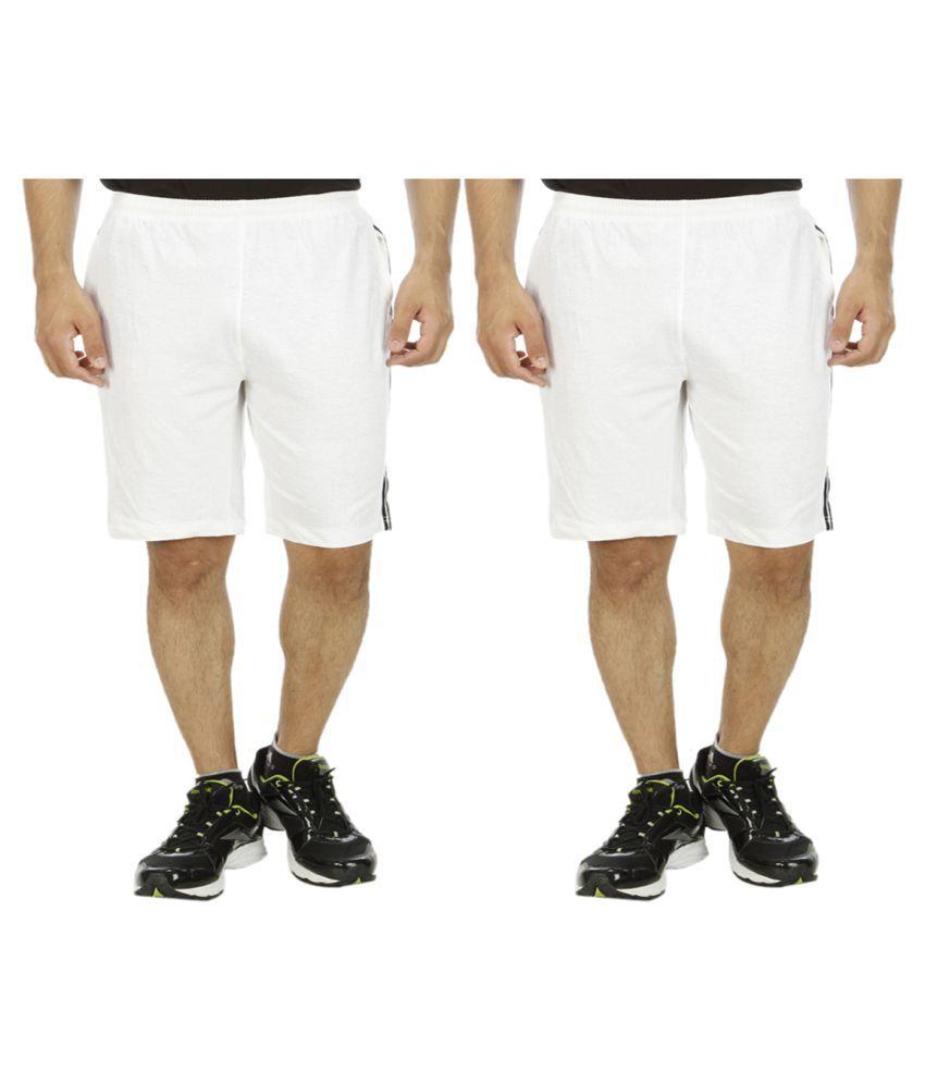 Kritika's World White Shorts Pack of 2