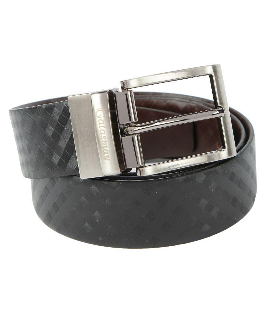 Gatasmay Black Leather Casual Belts