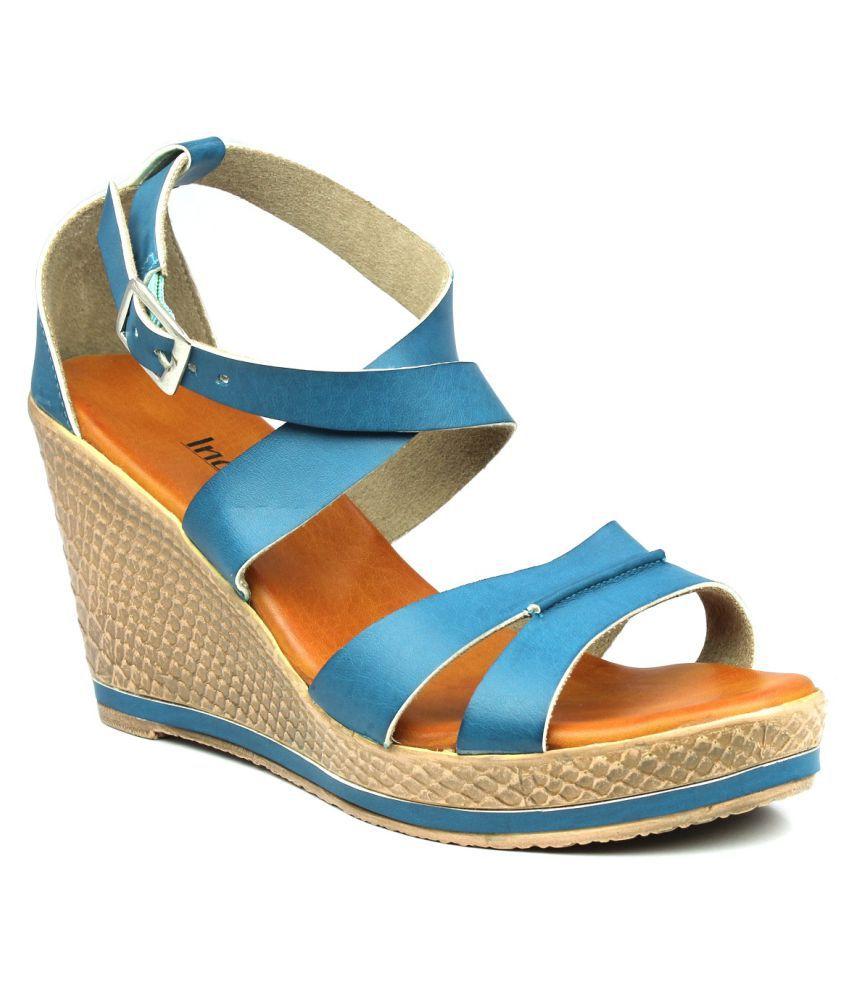 INC.5 Blue Wedges Heels