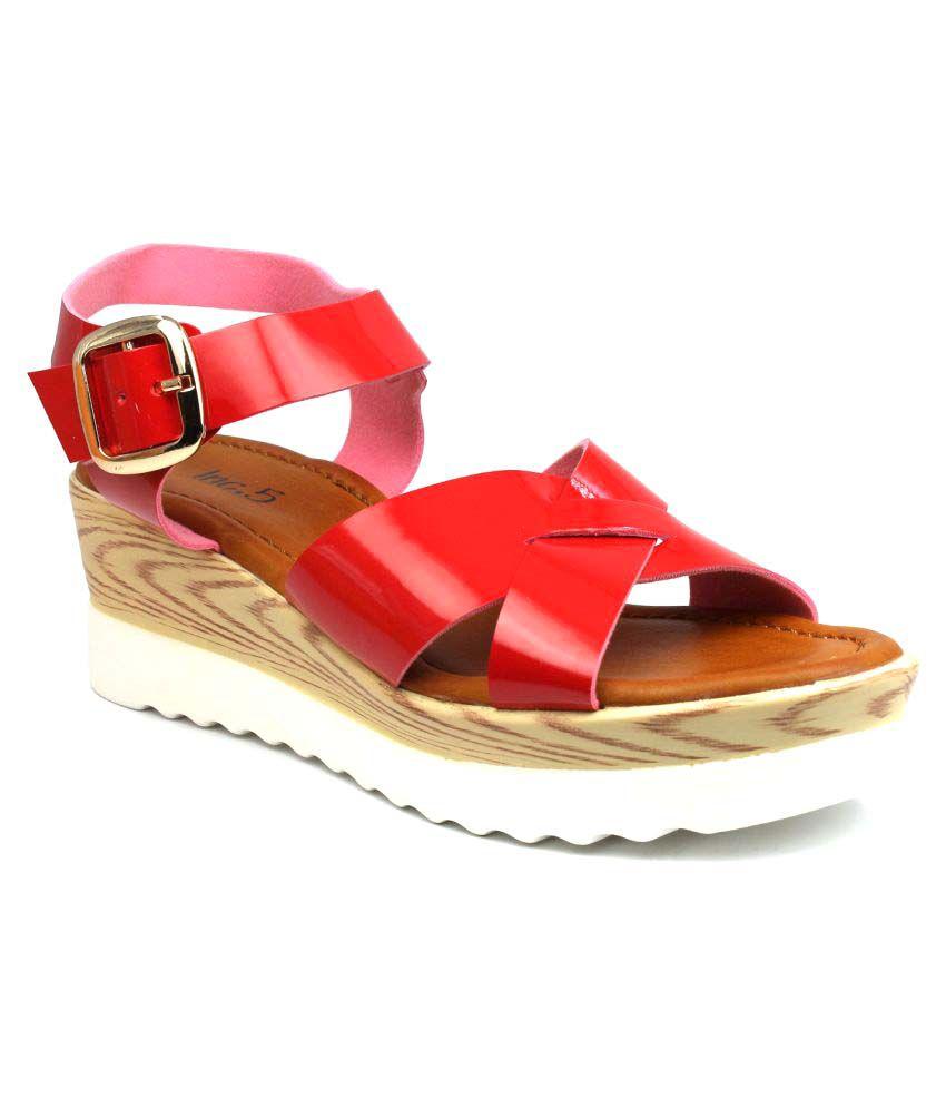 Inc.5 Red Wedges Heels