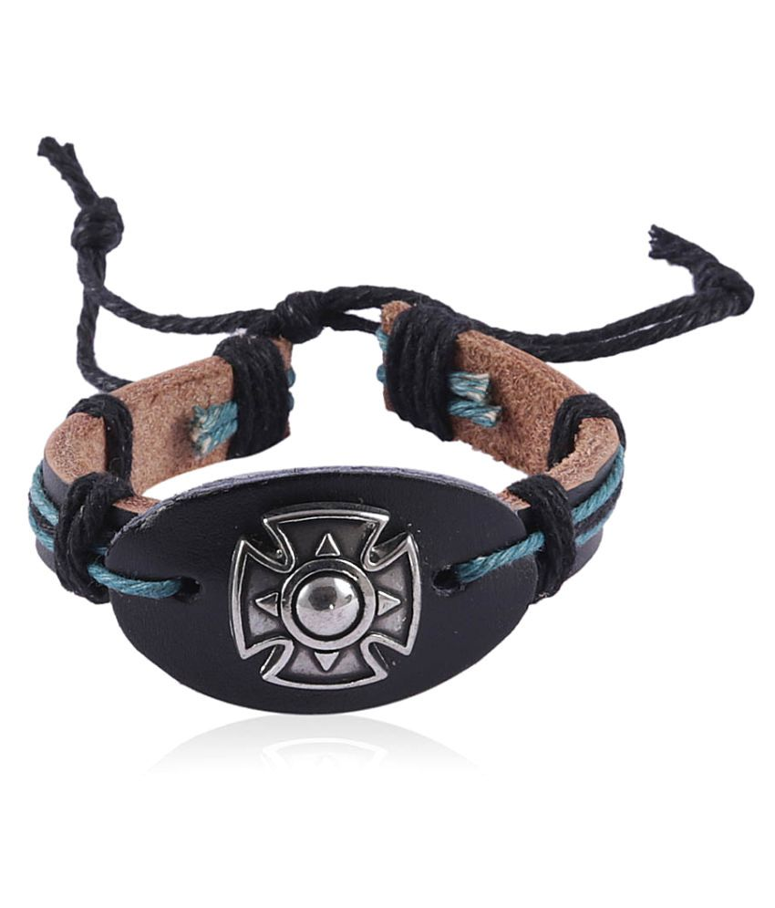Jewelizer Faux Leather  Multicolor Bracelet