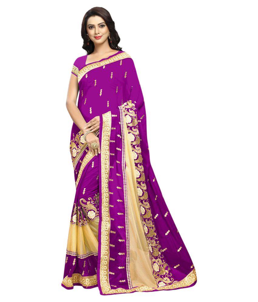 Aradhya Purple Georgette Saree