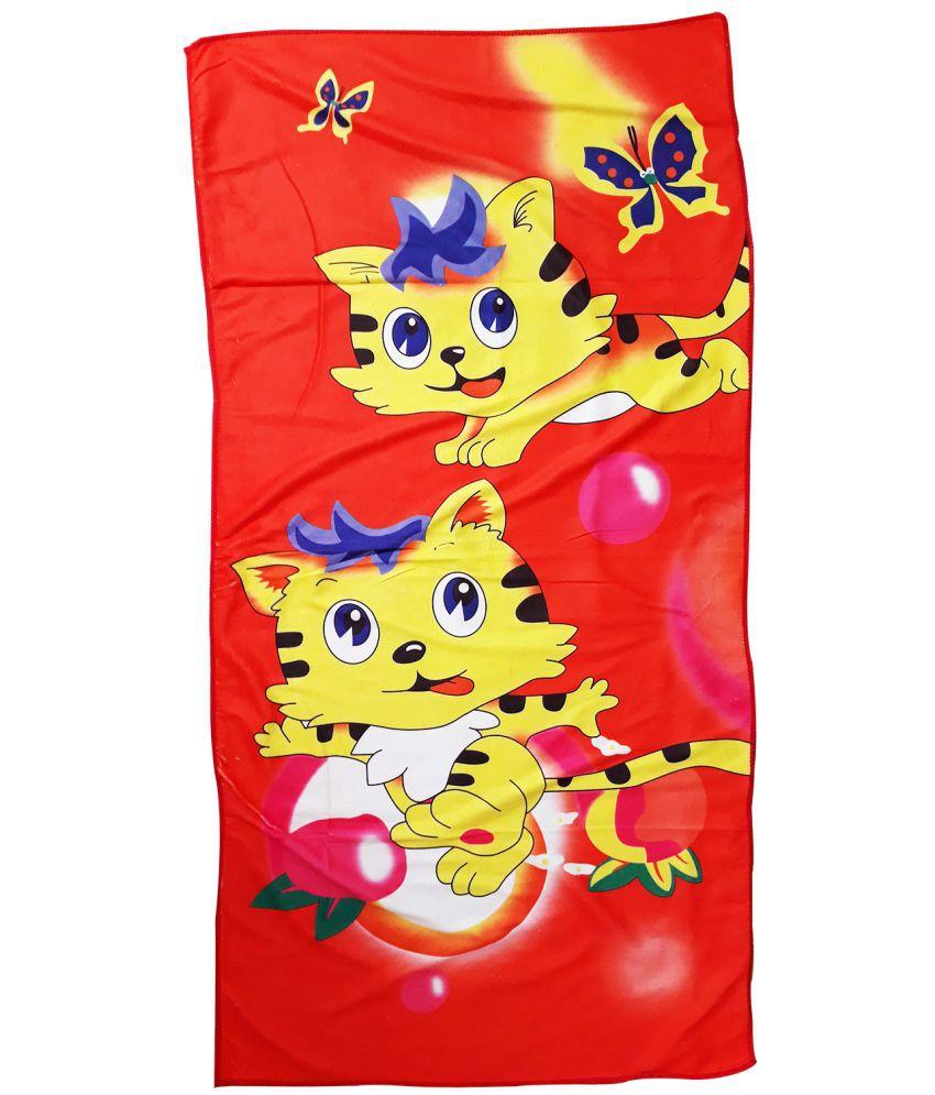 Catman Red Cotton Bath Towels 1