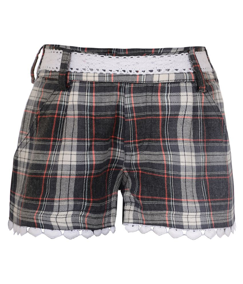 Naughty Ninos Multicolor Check Hot Pants