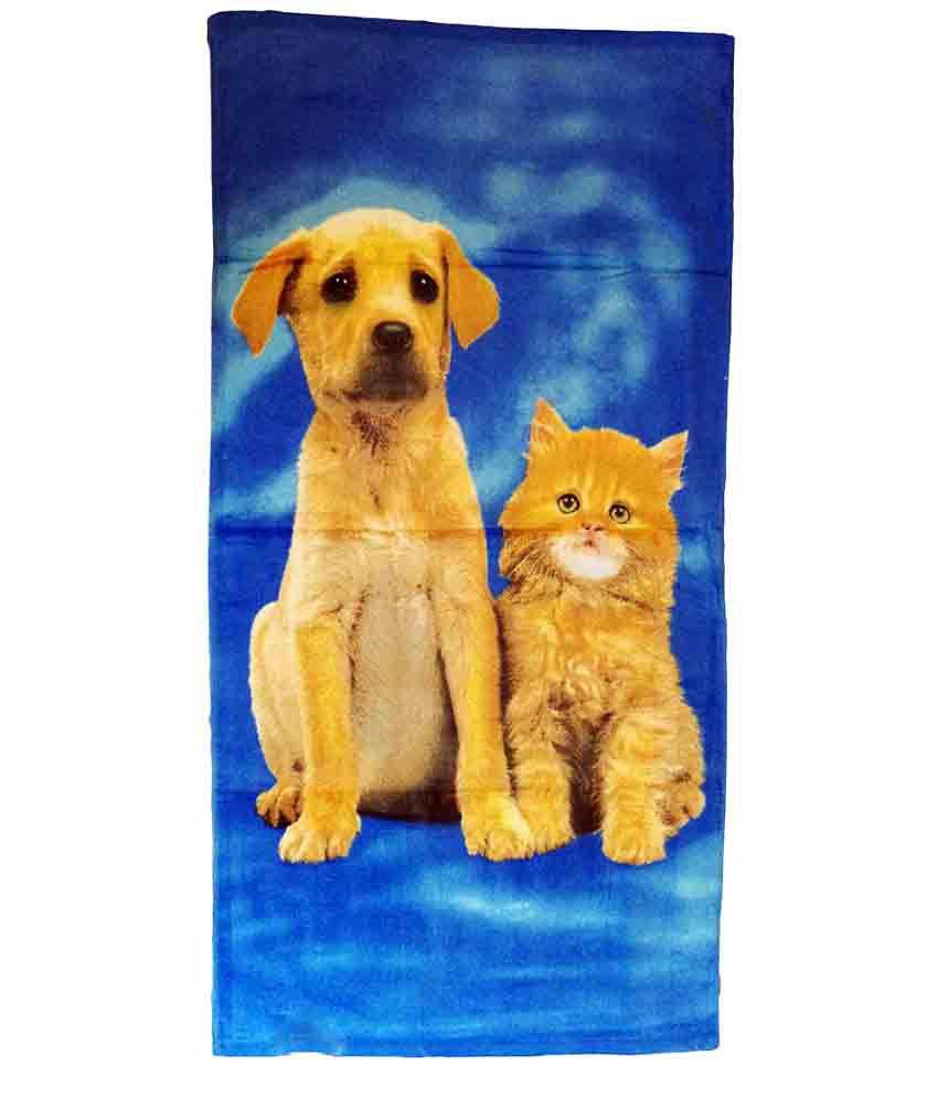 Catman Multi Cotton Bath Towels 1 Bath Towels