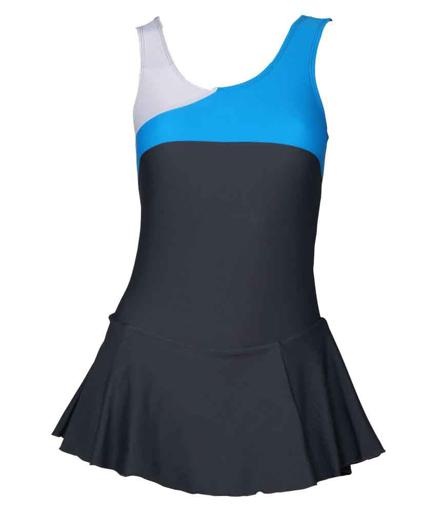 Champ Grey Swimwear for Women/ Swimming Costume