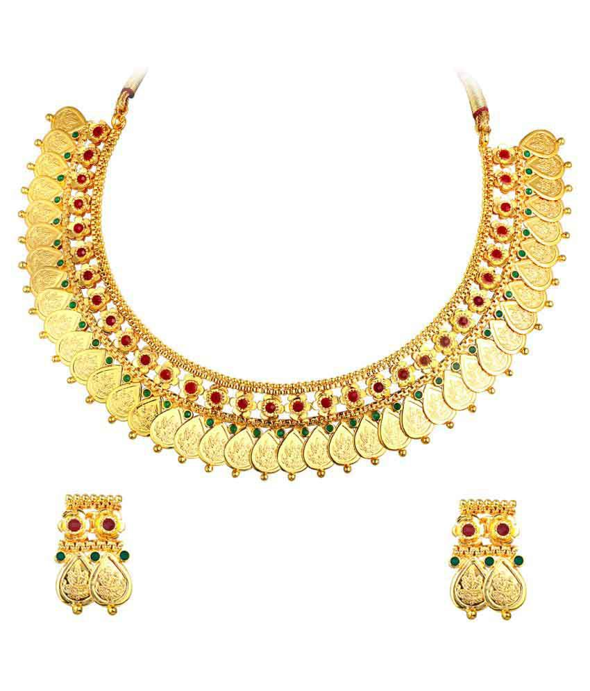 Spargz Golden Necklace Set