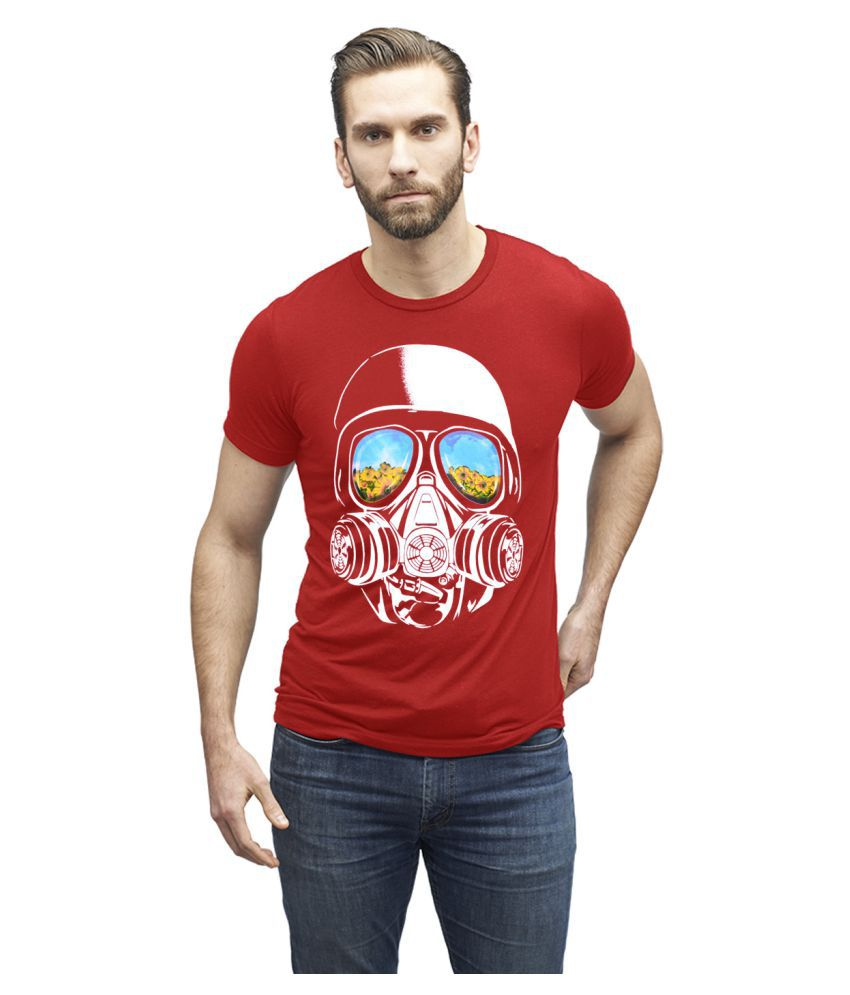 Humtees Red Round T-Shirt