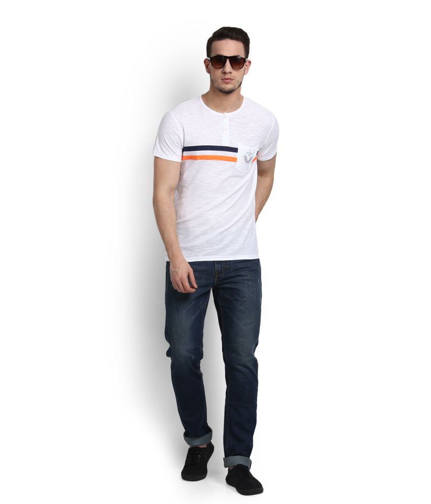 People White Henley T-Shirt