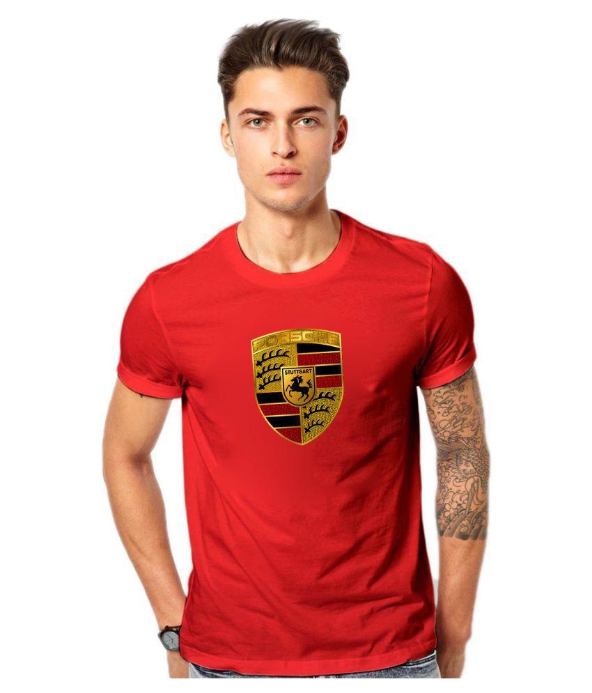 Wild Thunder Red Round T-Shirt