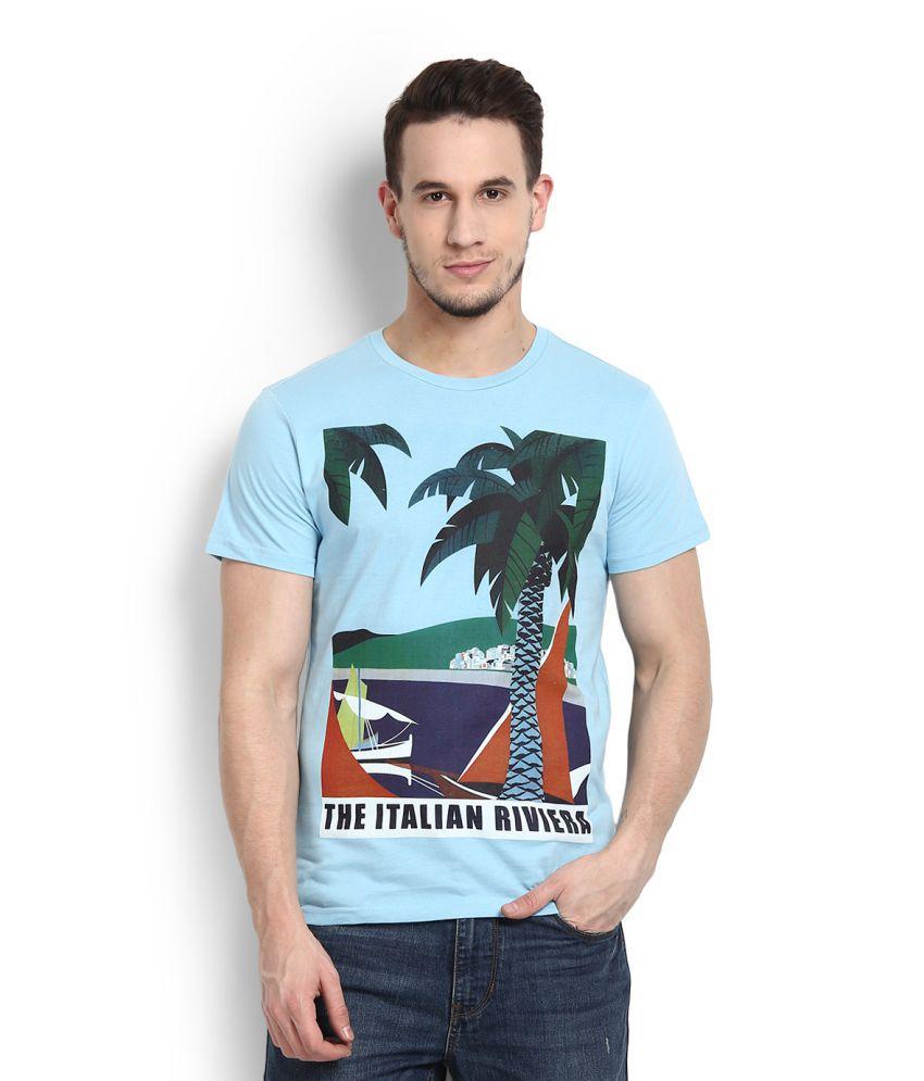 Allen Solly Blue Round T-Shirt