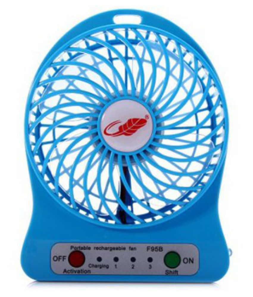 King Of Events 230 International Standard 18650 Capacity TableFan Blue