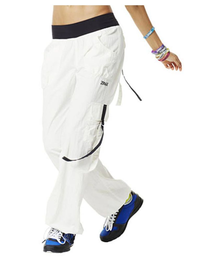 Zumba White Ultimate Orbit Cargo Pants