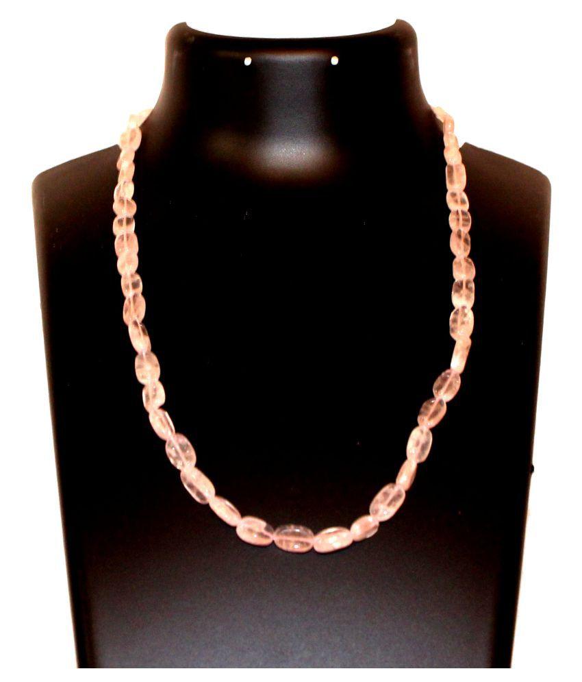 HC Rose Quartz Oval Necklace with Adjustible Lock