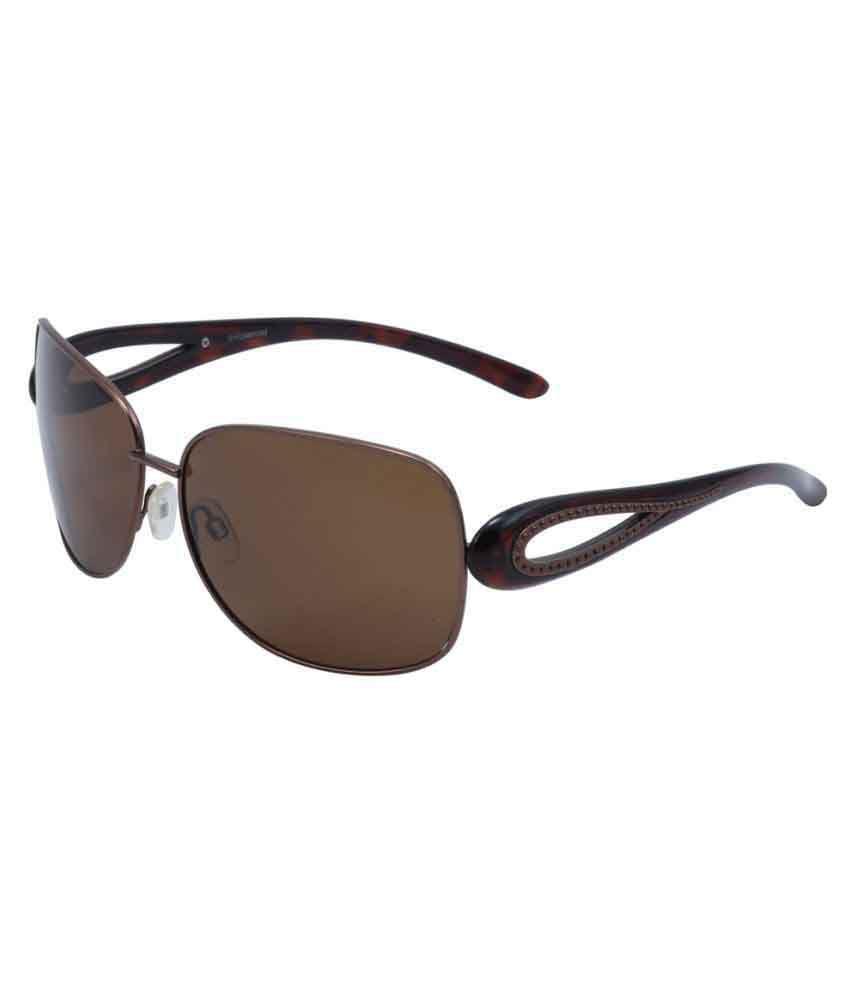 Polaroid Brown Oval Sunglasses ( P4007-B )