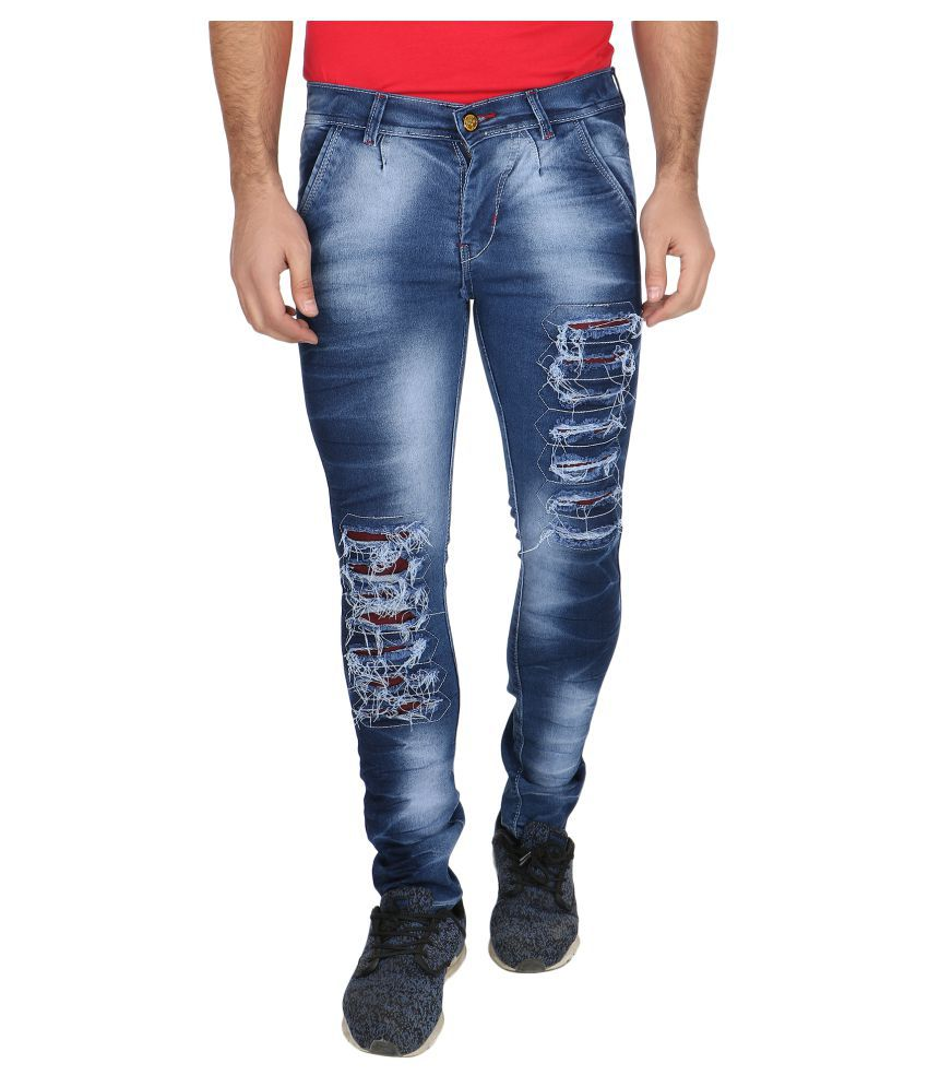 Khaan Saab Editions Blue Slim Jeans