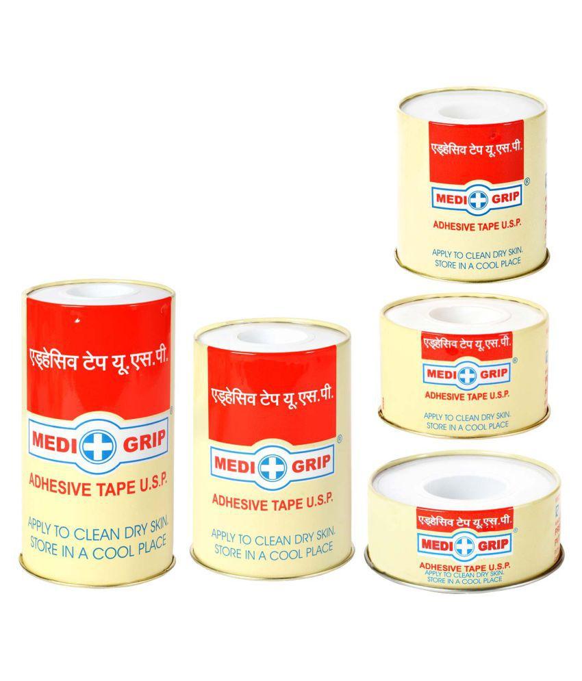 Medigrip Zinc Oxide Plaster (Adhesive Tape Usp) 1.25Cm*1Mtr Regular Cotton