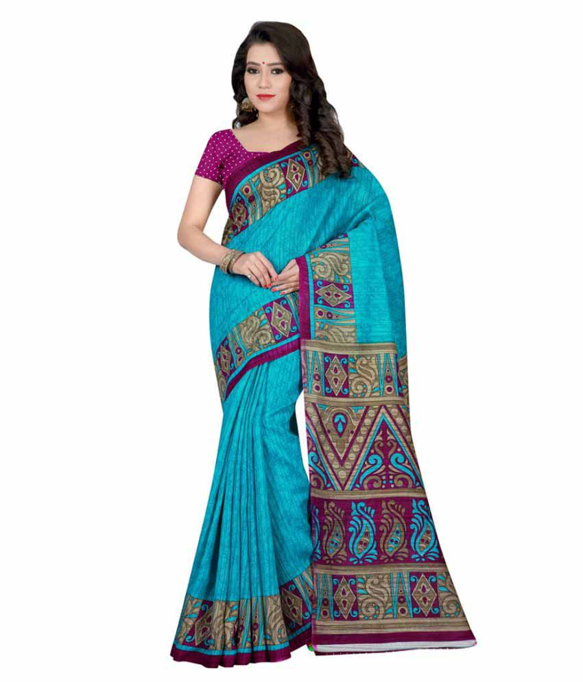 Nikki Textiles Multicoloured Bhagalpuri Cotton Saree