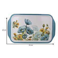 TRUENOW VENTURES Pvt.Ltd Melamine Rectangular Shape Printed Serving Tray - 625926132848