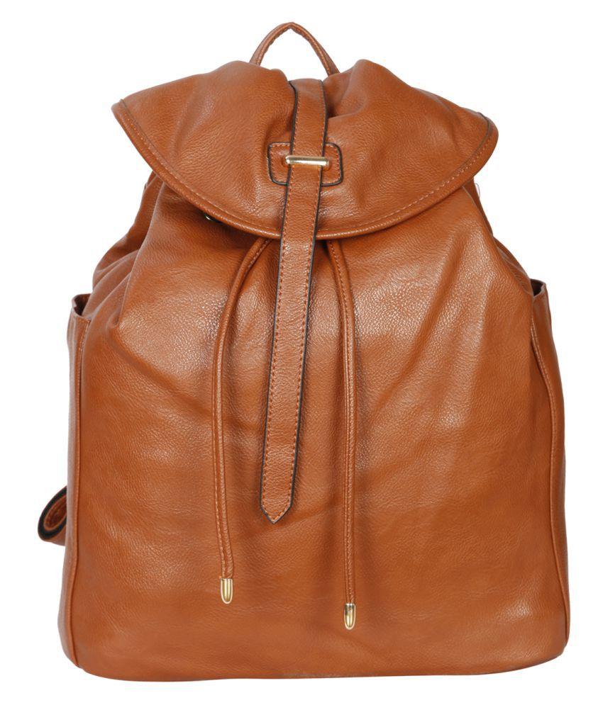 Bagkok Brown P.U. Backpack