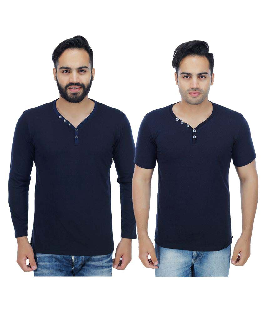 Christy's Collection Navy Round T-Shirt Pack of 2