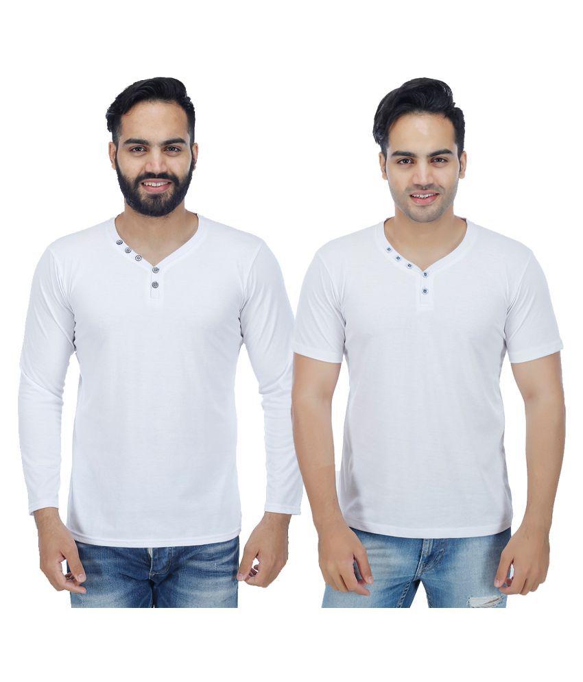 Candy House White V-Neck T-Shirt Pack of 2