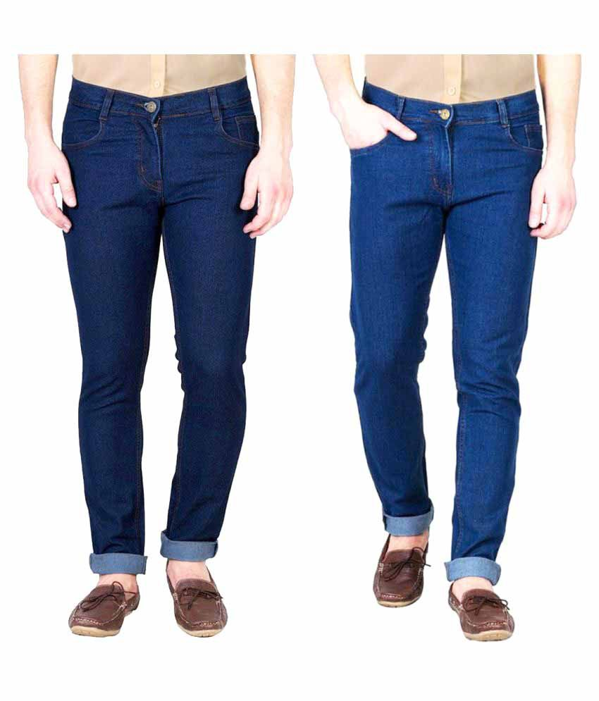 Masterly Weft Multicolored Straight Jeans