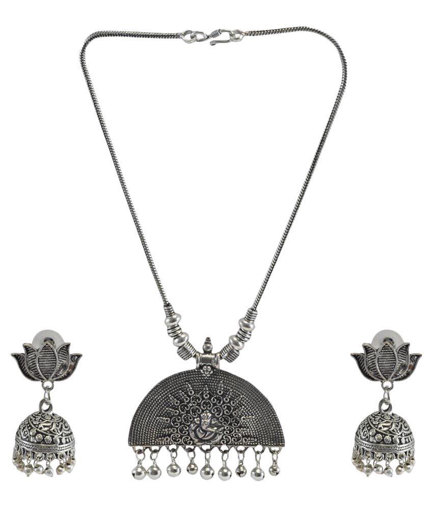 Tandras Fashion Jewellery Silver Necklace Set