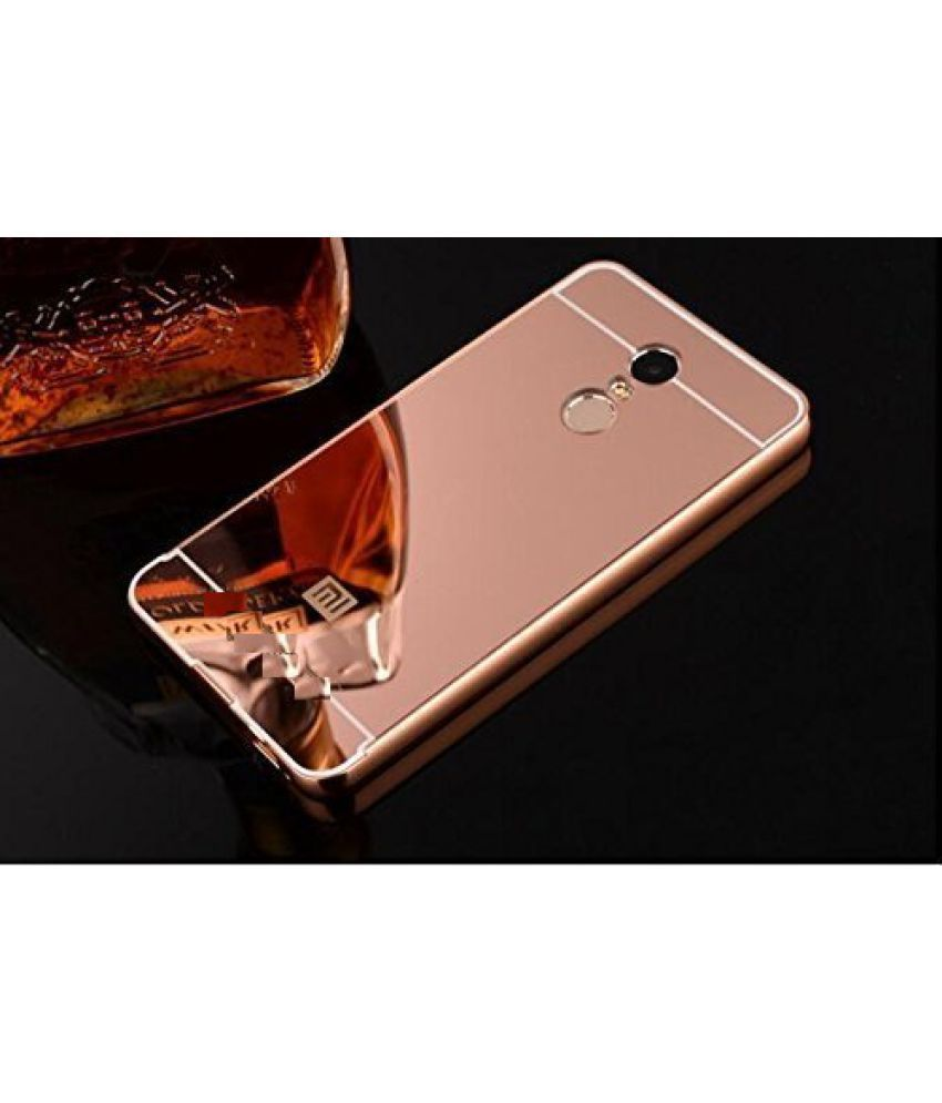 Xiaomi Redmi Note 4 Mirror Back Covers feomy - Rose Gold - Plain Back Covers Online at Low Prices | Snapdeal India